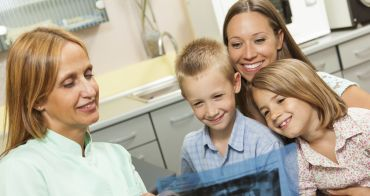 dentist with kids